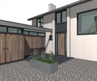 aanbouw en restyling woonhuis Breda