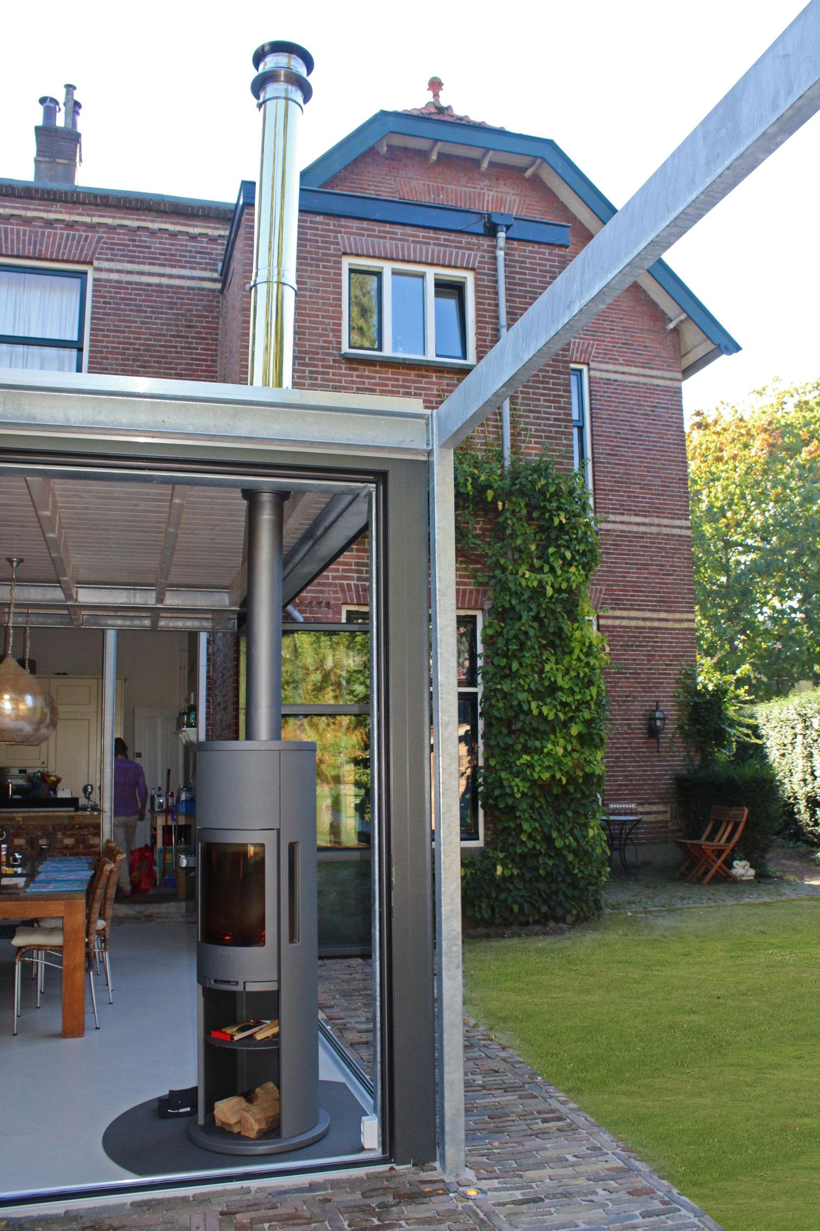 Ontwerp aanbouw met industrial look zeist id architectuur - Tussen huis ...