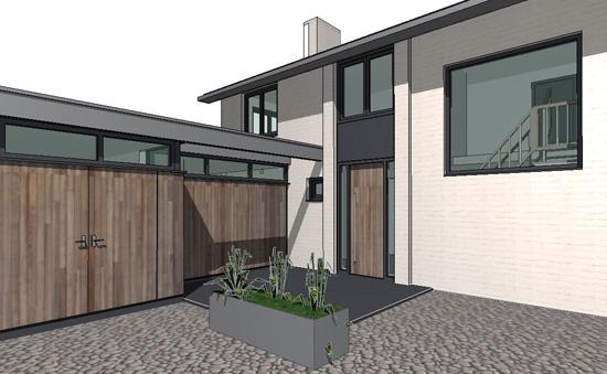 aanbouw en restyling woonhuis, Breda